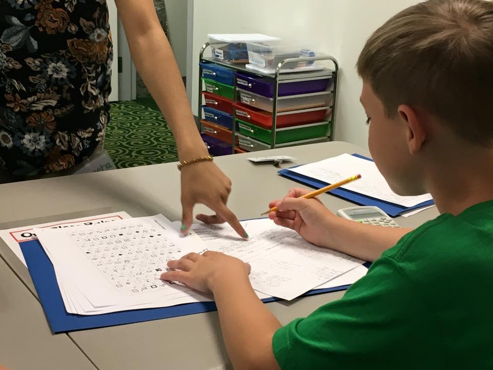 Student Doing Worksheet
