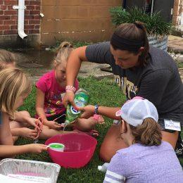 Children Making Bubbles