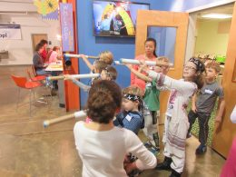 Children Playing With Exhibit