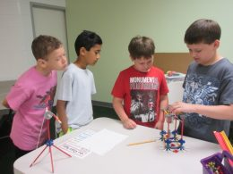 Children Playing with Kinex
